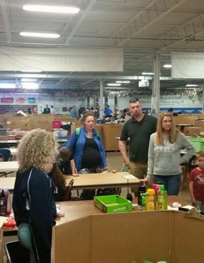 Eastgate Dental Excellence team food pantry outreach